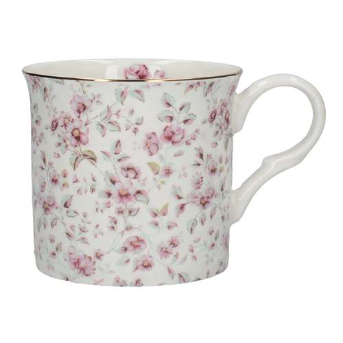 Katie Alice Ditsy Floral Palace Mug, White Floral