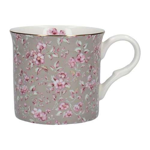 Katie Alice Ditsy Floral Palace Mug, Grey Floral