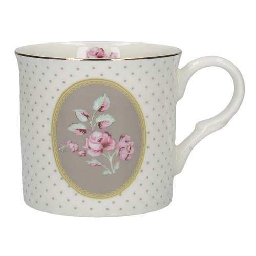 Katie Alice Ditsy Floral Palace Mug, White Oval