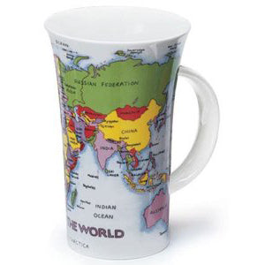 Dunoon Glencoe Fine Bone China Mug, Map Of The World
