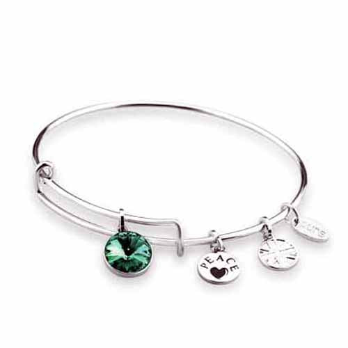 Swarovski Birthstone Bangle, May/Emerald