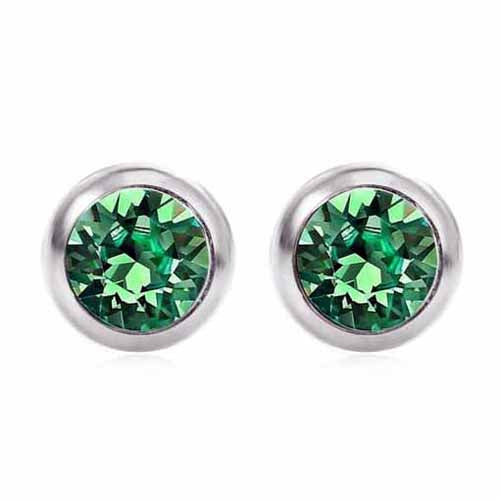 Swarovski Birthstone Stud Earrings, May/Emerald