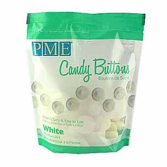 PME Candy Buttons, Mint White Chocolate