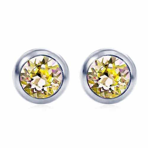 Swarovski Birthstone Stud Earrings, November/Topaz