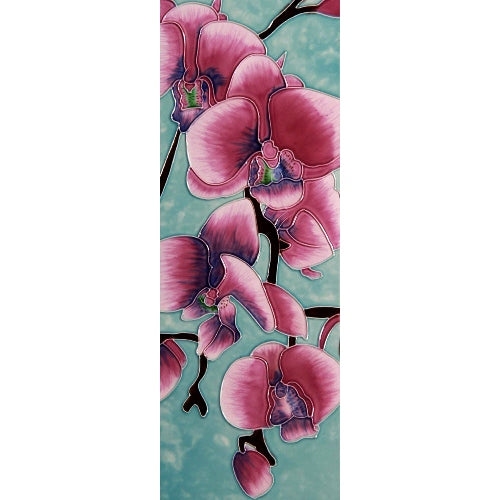"Benaya Art Ceramic Tiles 'Orchid Beauty'', 6"" x 16"""