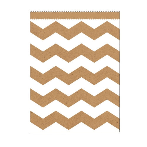 Large Paper Treat Chevron Bag