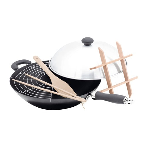 Judge Non-Stick 6 Piece Wok Set