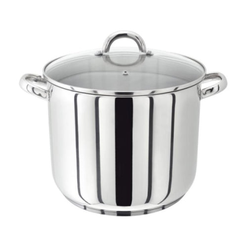 Judge Vista Stockpot With Glass Lid, 26cm/10""