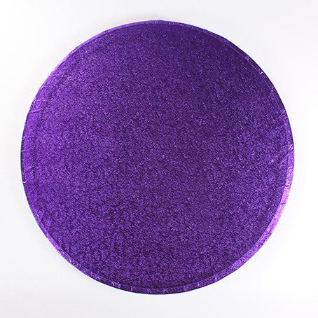 "Round Cake Board, Deep, 12"", Purple"