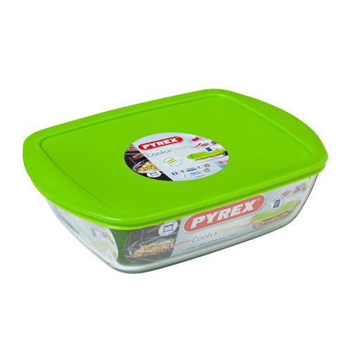 Pyrex Cook & Store Rectangular Dish With Lid, 2.5l
