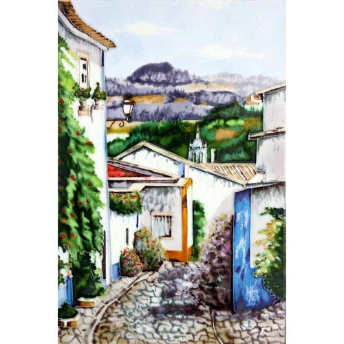 "Benaya Art Ceramic Tiles 'Portugese View', 8"" x 12"""