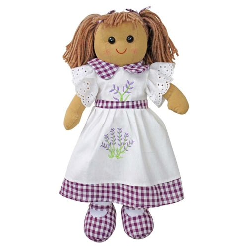 Rag Doll With Lavender Embroidered Dress, 40cm