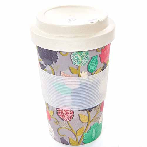 ECO CHIC BAMBOO REUSABLE COFFEE CUP, ROSES