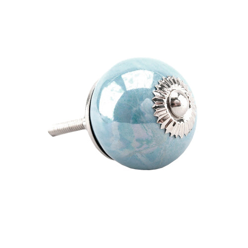 Pearlescent Drawer Knob, Blue