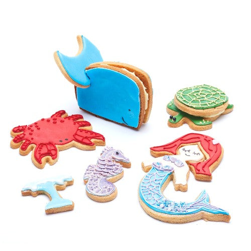 3D Sea Life Cookie Cutters, Set Of 8