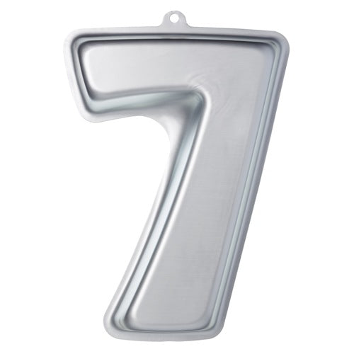 Sweetly Does It Silver Anodised Shaped Cake Pan, Number 7