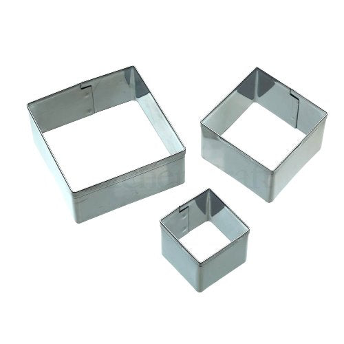 Kitchencraft Square Fondant Cutters, Set Of 3