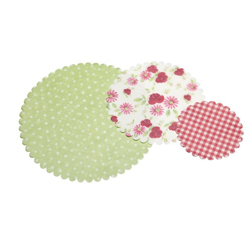Assorted Floral Patterned Paper Doilies, Pack Of 30