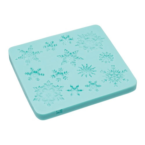 Kitchencraft Silicone Fondant Mould, Snowflakes