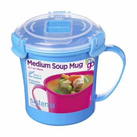 Sistema Soup Mug To Go, 656ml, Blue