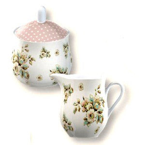 Katie Alice Cottage Flower Sugar and Cream Set