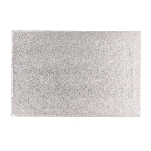 "Oblong Cake Board, Deep, 18"" x 12"", Silver"
