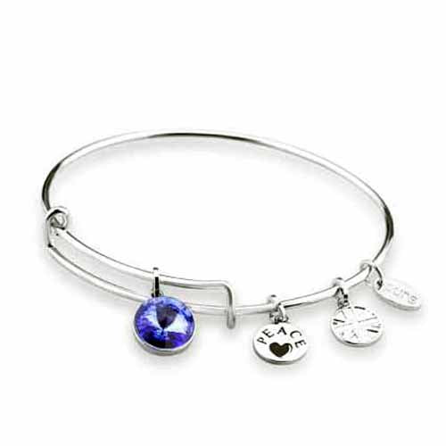 Swarovski Birthstone Bangle, September/Sapphire