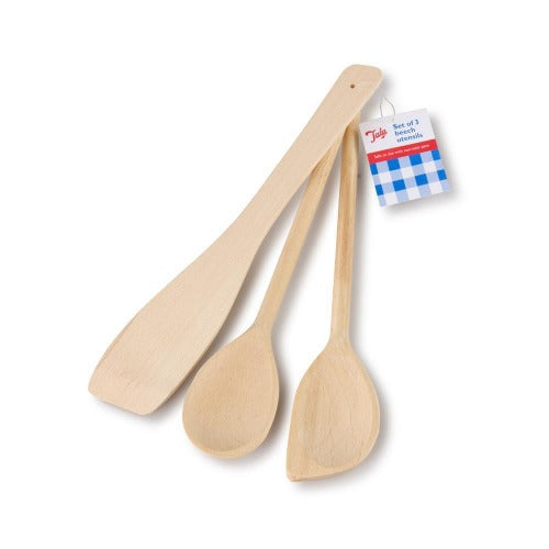 TALA WOODEN BEECH UTENSILS, SET OF 3