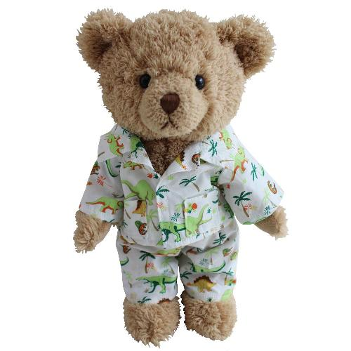 Teddy Bear With Dinosaur Pyjamas