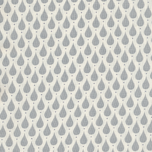 A.U Maison Teardrops Oilcloth, Dusty Blue, FREE SWATCH