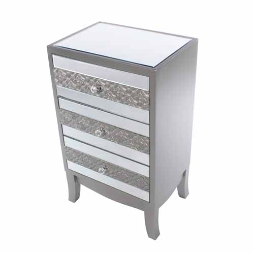 Jade Mirrored 3 Drawer Locker