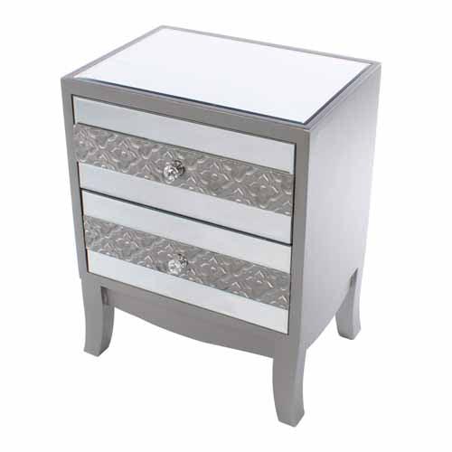 Jade Mirrored 2 Drawer Locker