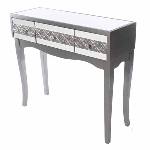 Jade Mirrored 3 Drawer Console Table **DUE MARCH**