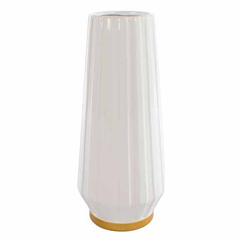 MILANO CERAMIC VASE, 41CM, IVORY/GOLD**DUE MARCH**