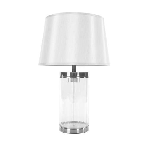 Carlee Table Lamp, 55cm, Satin Silver