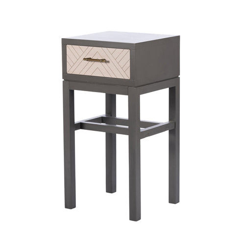 Vanessa 1 drawer accent table, stone grey**LAST ONE, COLLECT IN STORE**