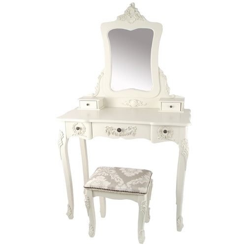 Natalie Dressing Table & Fabric Stool