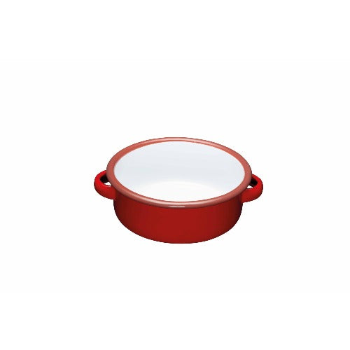 World of Flavours Enamel Serving Dish, Red