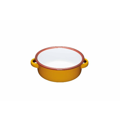 World of Flavours Enamel Serving Dish, Yellow