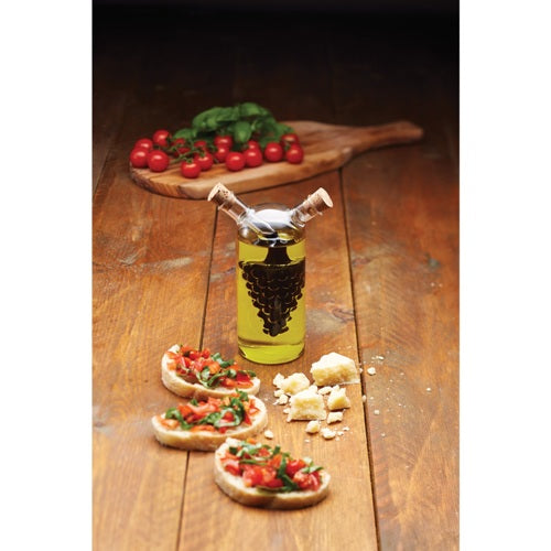 World of Flavours Italian 2 in 1 Oil & Vinegar Cruet Bottle