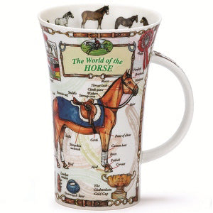 Dunoon Glencoe Fine Bone China Mug, World Of The Horse
