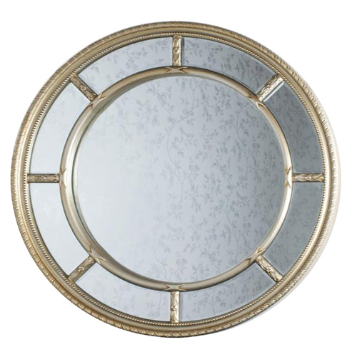 Reflections Nautilus Round Mirror, 90cm, Champagne