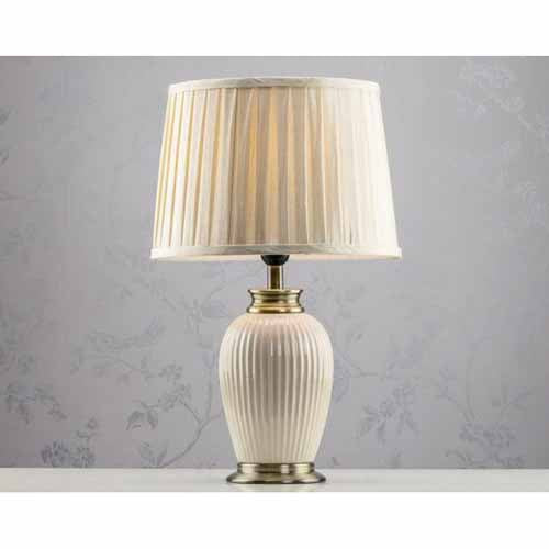 Mia Ceramic Bronze/Gold Lamp, 48cm