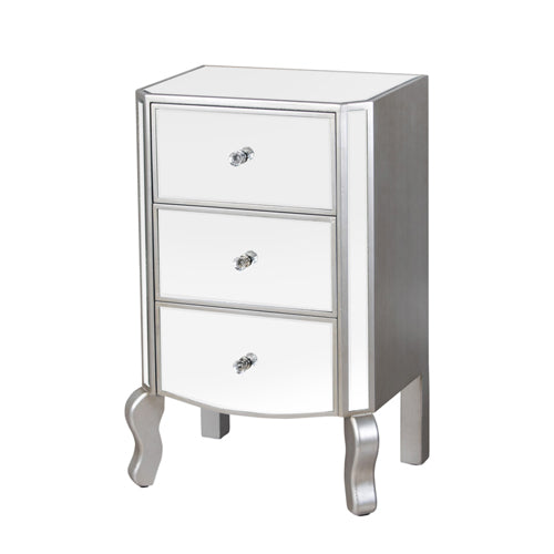Reflections 3 Drawer Unit With Curved Legs, 76cm
