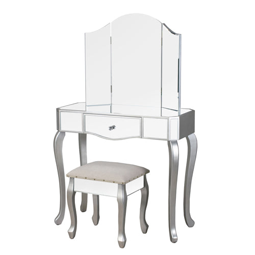 Reflections Dressing Table With Stool, Champagne**DUE APRIL**