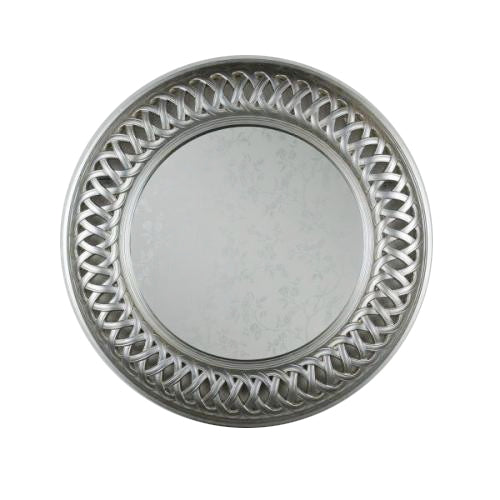 Reflections Round Lattice  Mirror, 90cm, Champagne