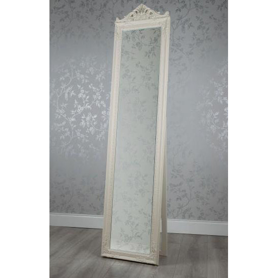 Chateau Cheval Mirror, 40cm x 172cm, Cream