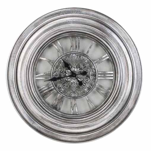 Oversize Gears Clock, 75cm, Pewter**LOW STOCK**