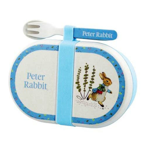 Beatrix Potter Peter Rabbit Eco Friendly Organic Snack Box With Cutlery Set