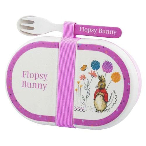 Beatrix Potter Flopsy Eco Friendly Organic Snack Box With Cutlery Set